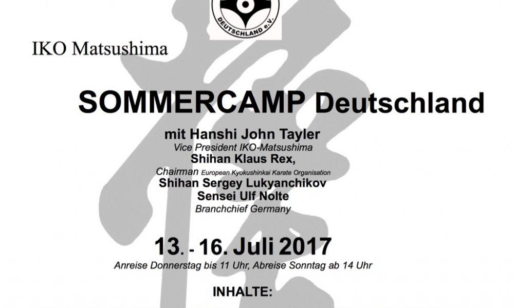Ankündigung: Sommerlager 2017