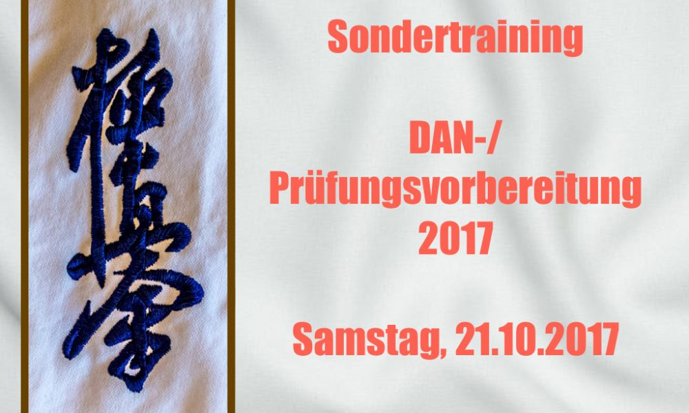 Sondertraining 21.10.2017