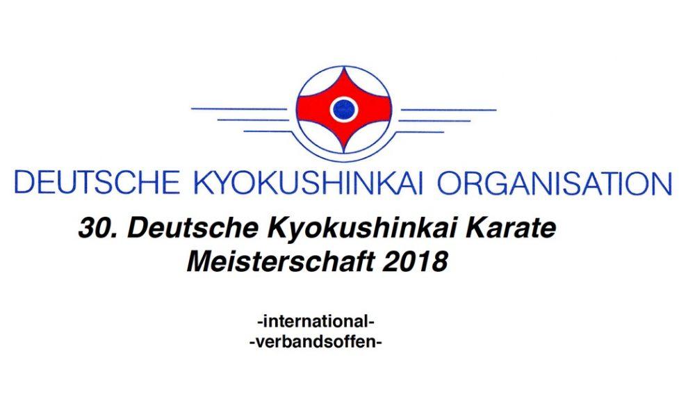 Anmeldung Deutsche Meisterschaft 2018